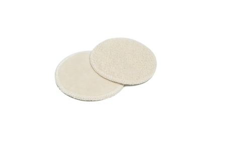 Cosmetic pads made from organic cotton velvet - 2 pcs