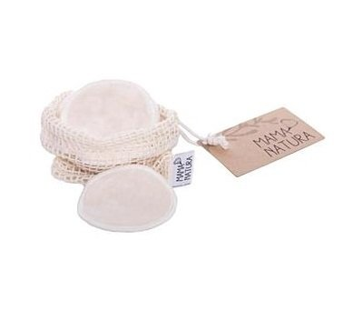 Cosmetic pads made from organic cotton velvet - 6 pcs