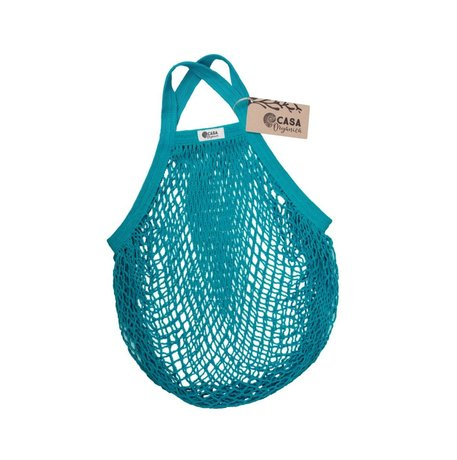 String bag – short handle – teal