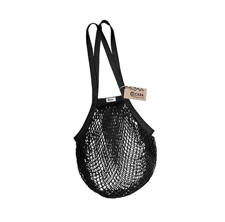 String bag – long handle – black