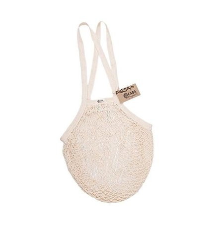 String bag – long handle – natural