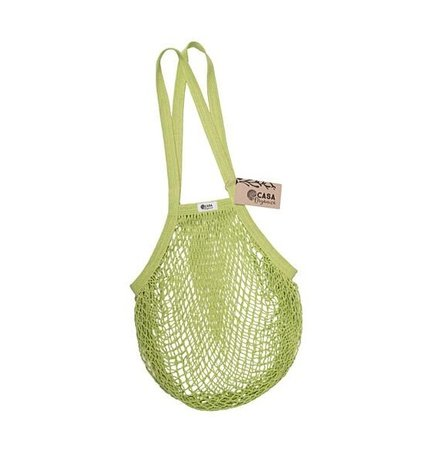 String bag – long handle – lime