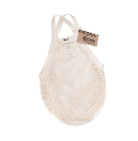 String bag – short handle – natural