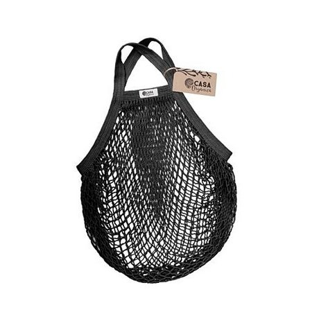 String bag – short handle – blacк